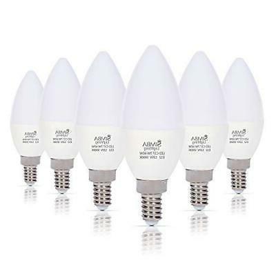 6 led candelabra base chandelier bulb light