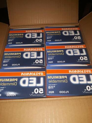 6 Sylvania Dimmable Light Bulb R20 50W Total Watt