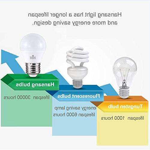 6 A15 Bulb Light 6 ,E26 Standard Base,5000K Day