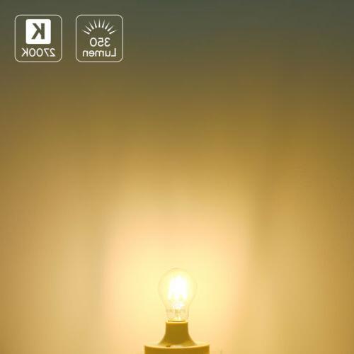 6 Pack LED Filament Warm White Bulb E26 Lamp Light 120V