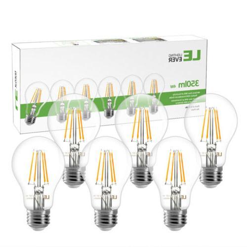 6 pack a19 led filament bulbs 4w