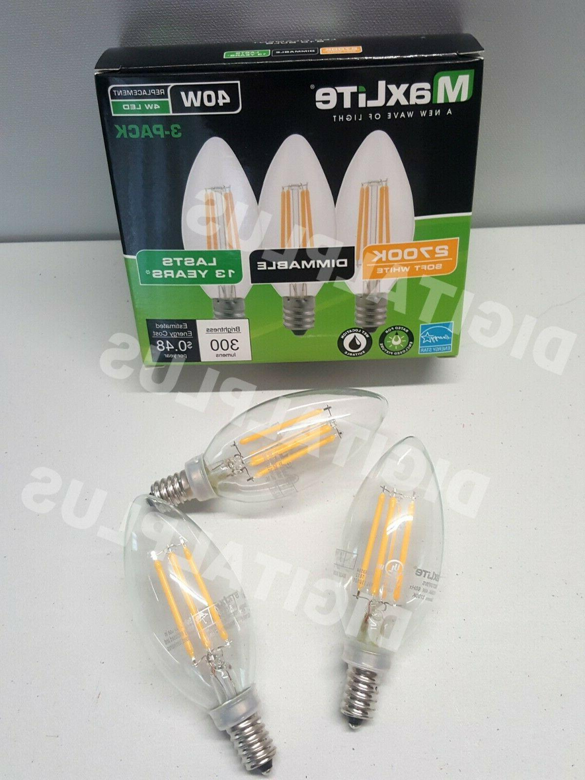 6 LED Light 2700k 40W 300L Candelabra Dimmable