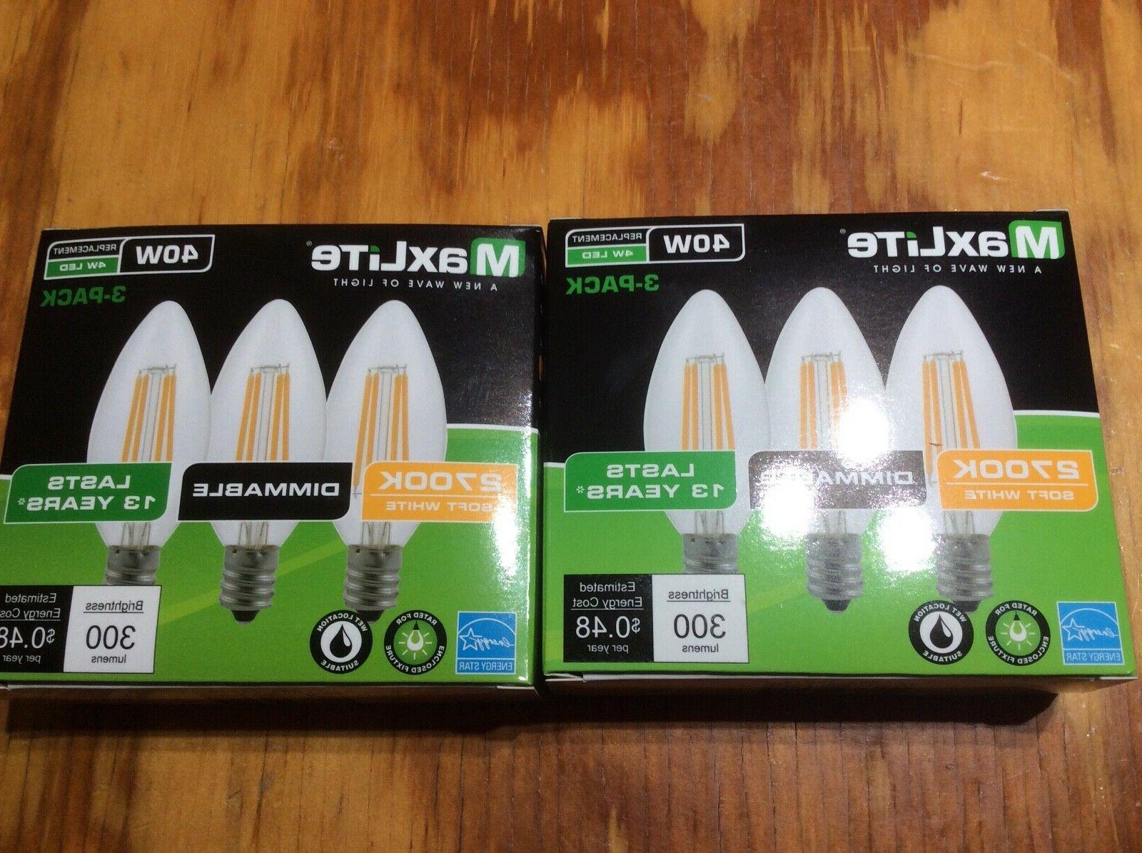 6 pack led light bulb 40w equivalent