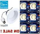 "6-packs 6"" CAN RETROFIT BR30 RECESSED CEILING LIGHT 65W Dayl"