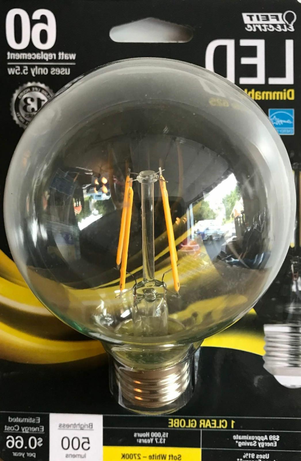 FEIT Electric 60-Watt Dimmable G25 Globe LED Light Bulb w/Me
