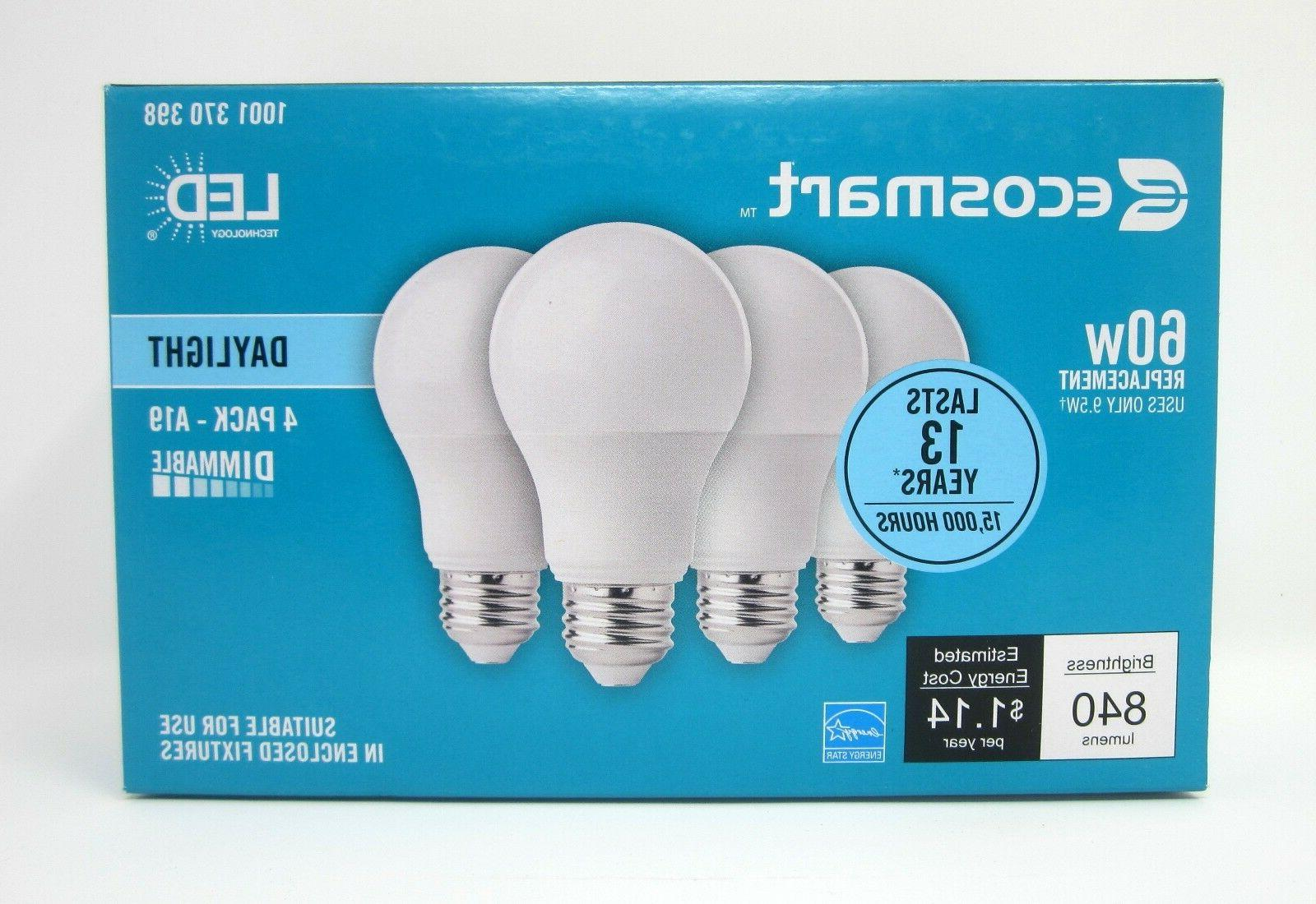 60 watt A19 dimmable save LED bulb 4 Pack