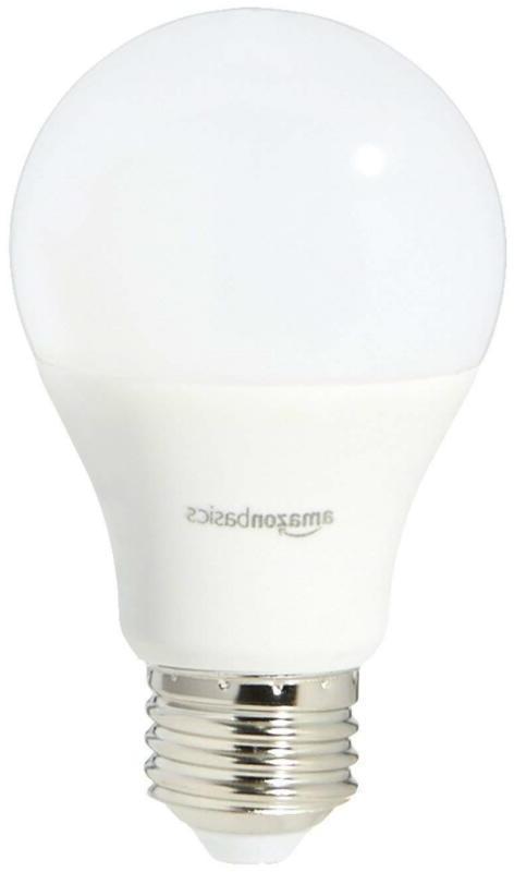 60 Equivalent, White, A19 LED Light 6-Pack