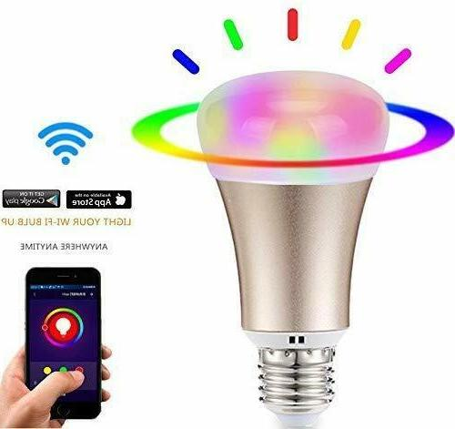 60w e27 dimmable color changing smart wi