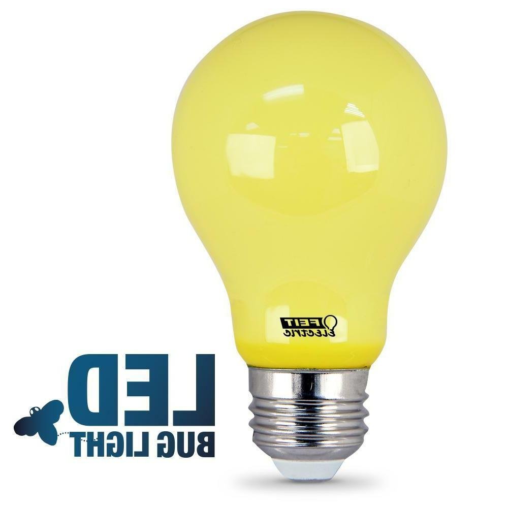 Feit Yellow-Colored A19 Bug Light