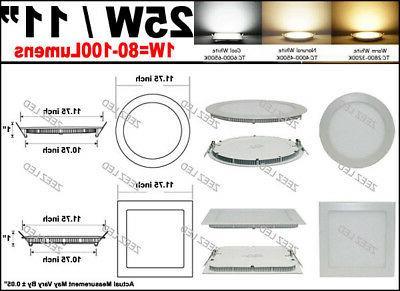 6W 12W 18W Recessed Panel Down Lights Slim Lamp