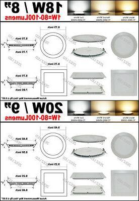 6W 9W 12W 18W LED Recessed Ceiling Panel Slim