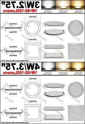 6W 18W LED Recessed Panel Slim Fixture