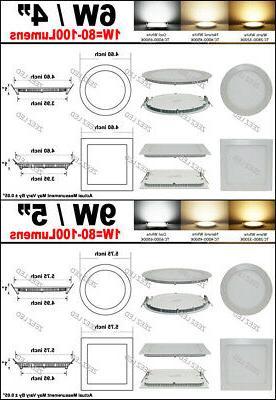 6W 9W 12W 15W 18W Panel Slim