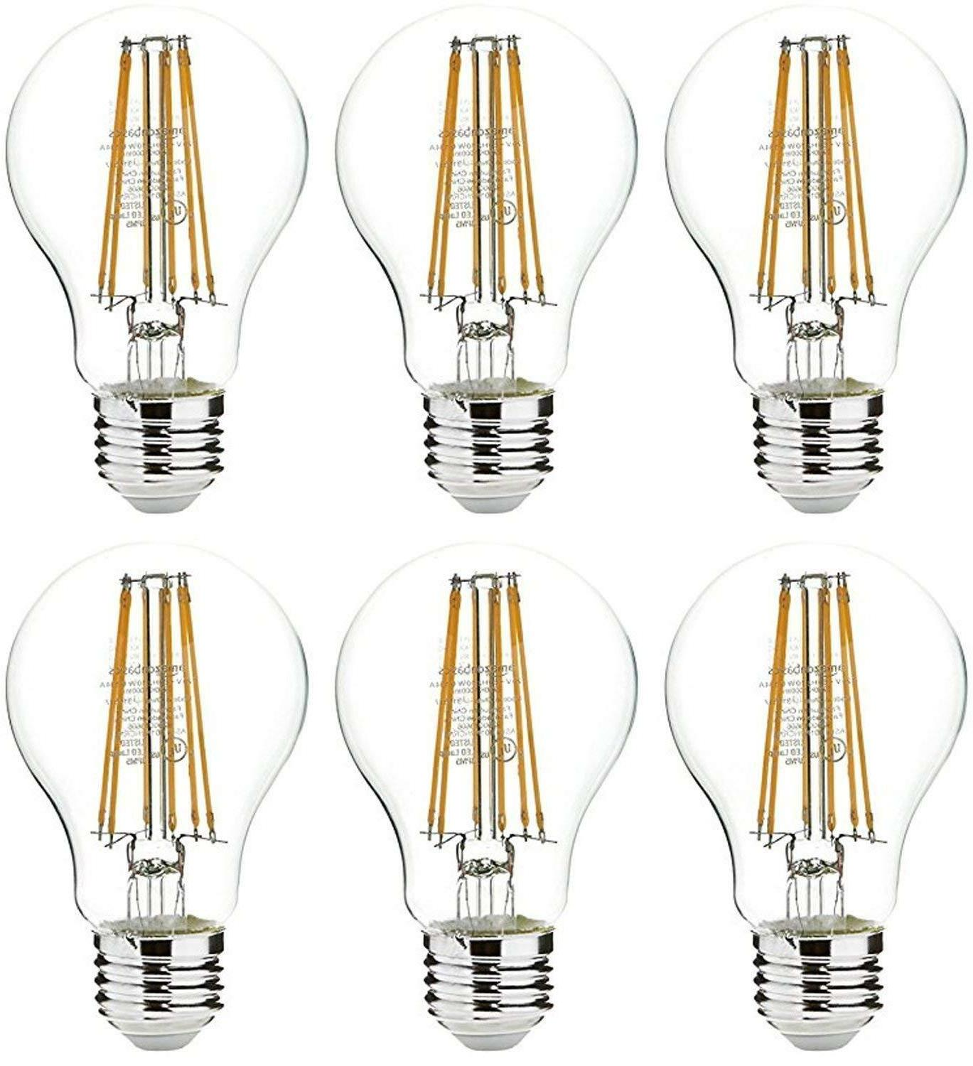 AmazonBasics 75 Watt Equivalent  Clear Non-Dimmable A19 LED