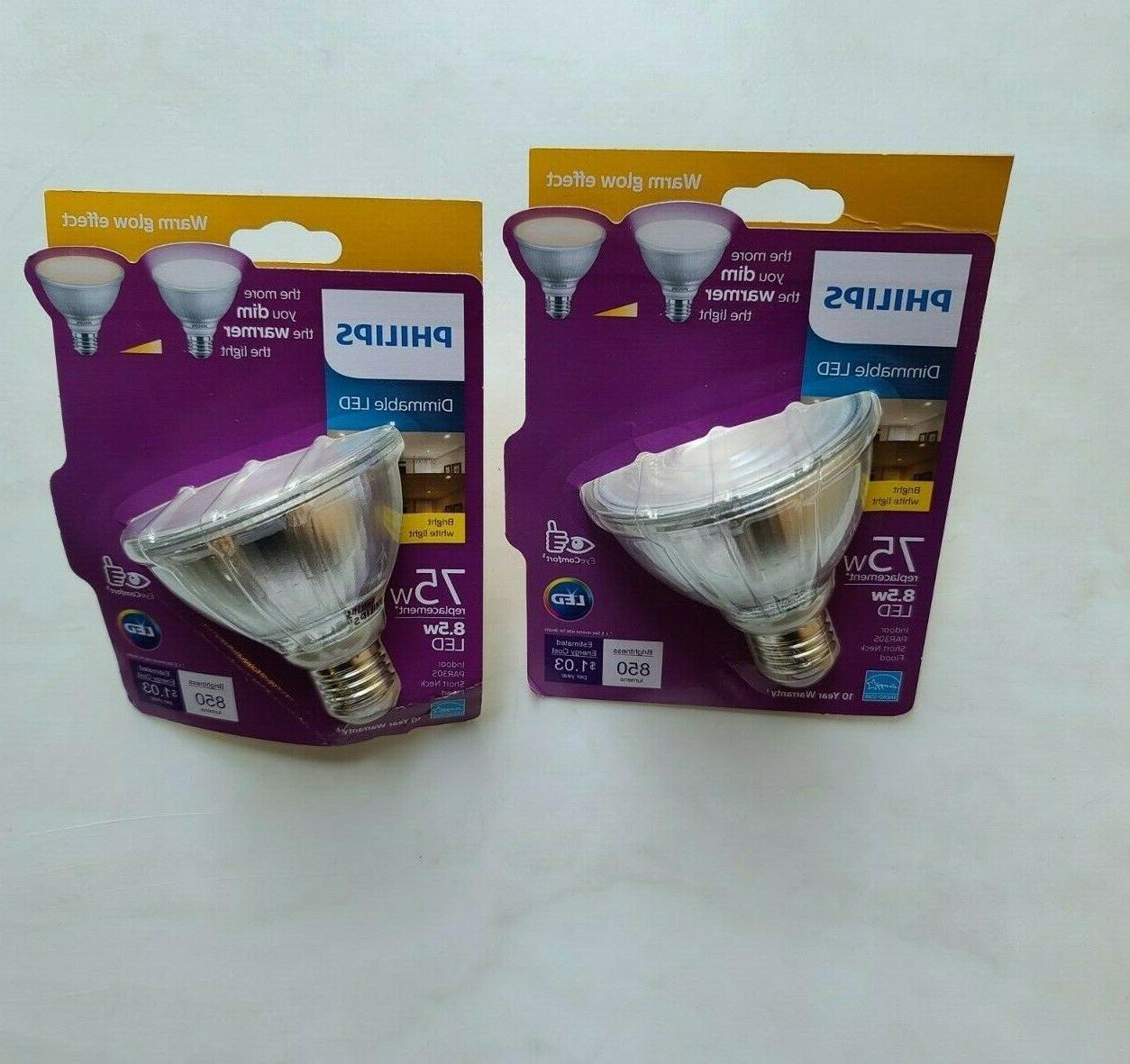 75-Watt Equivalent PAR30S Dimmable LED Flood Light Bulb Warm