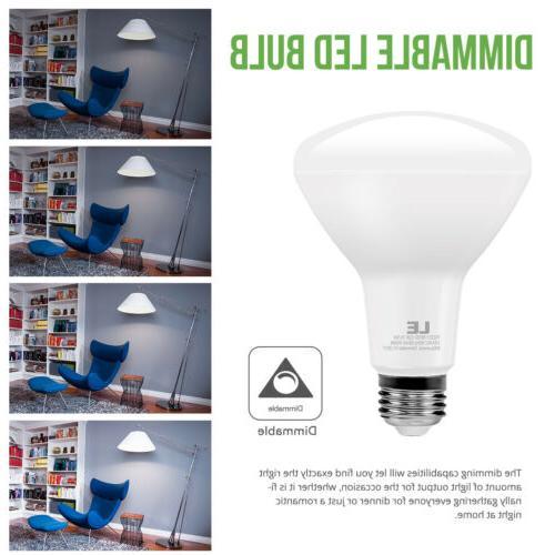 8 BR30 LED White Flood Bulb