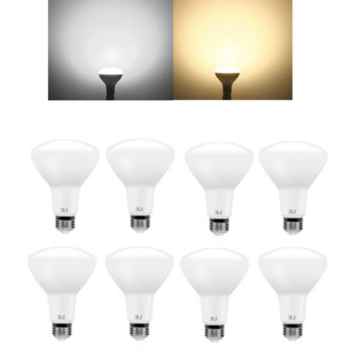 8 pack br30 led bulbs daylight warm