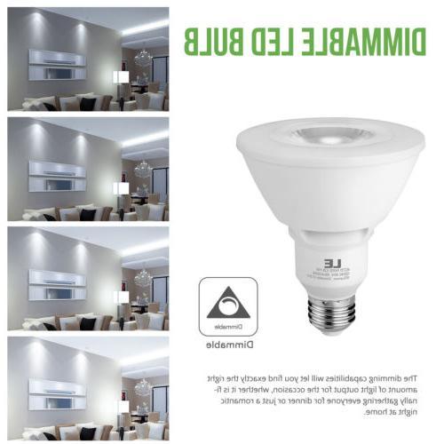 8 Pack E26 PAR30 11W LED Lamp Dimmable Light