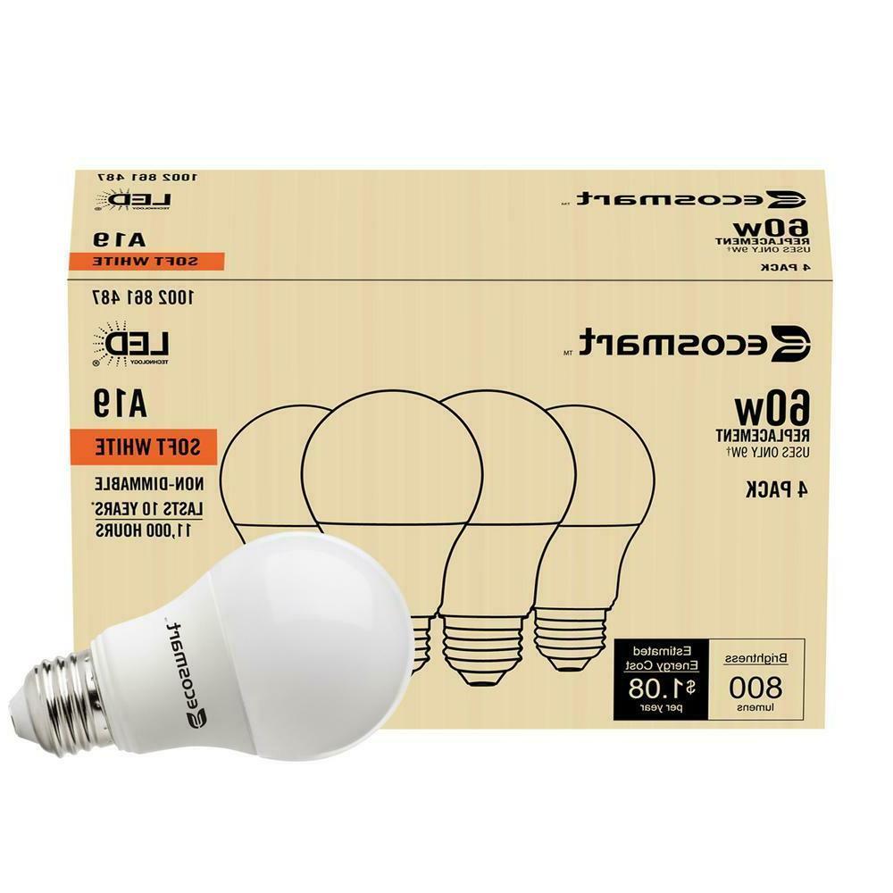 8 Pack 60W = 60 Equivalent 2700K Light Bulb New