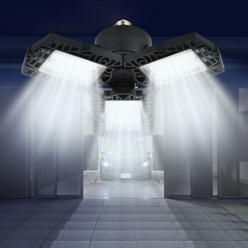 80W LED Garage Light Ceiling Bulb w/Adjustable