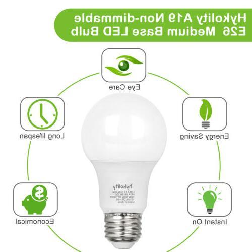 Hykolity Pack A19 LED Light 60W 800LM E26 UL
