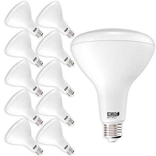 Sunco Lighting Pack BR40 LED Bulb, 17W=100W, Dimmable, Daylight, E26 base, Flood Home - Energy Star