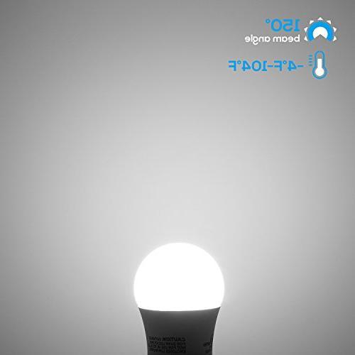 Light 40W Equivalent Light E26/E27 Medium Base, 400lm, Daylight, Omni-Directional Bulb, Pack 6