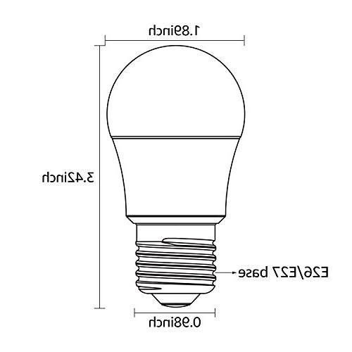 TORCHSTAR 4.5W A15 Light Light Bulb, UL-Listed, E26/E27 Medium Daylight, Omni-Directional Bulb,