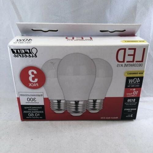 Feit Electric A1540/10KLED/3 Non-Dimmable LED Bulbs, 120 V,