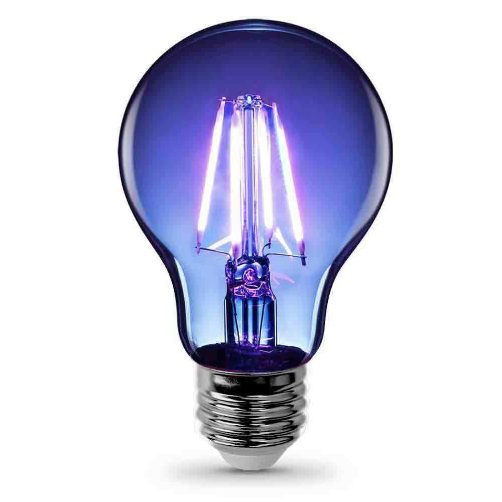 a19 tb led clear glass blue led