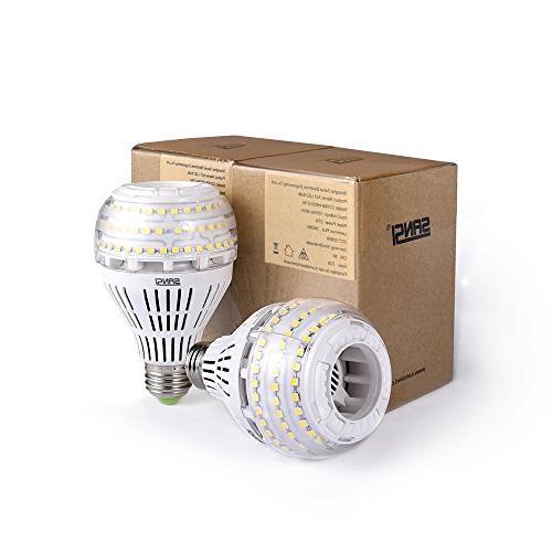 27W 4000 Lumens, 5000K E26 Medium Base Floodlight Bulb, Home Lighting, Non-dimmable, SANSI