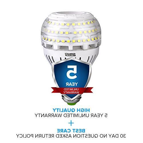 Ceramic Light 4000 5000K Daylight, E26 Floodlight Non-dimmable, SANSI