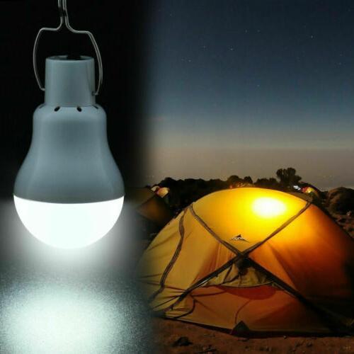 Solar Panel Powered Lights Bulb Light Tent Lamp Yard Indoor