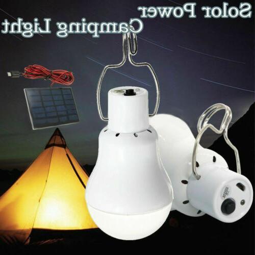 Solar Powered LED Lights Bulb Light Lamp Camping