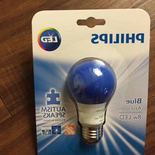 Philips Blue LED Bulb Standard Support