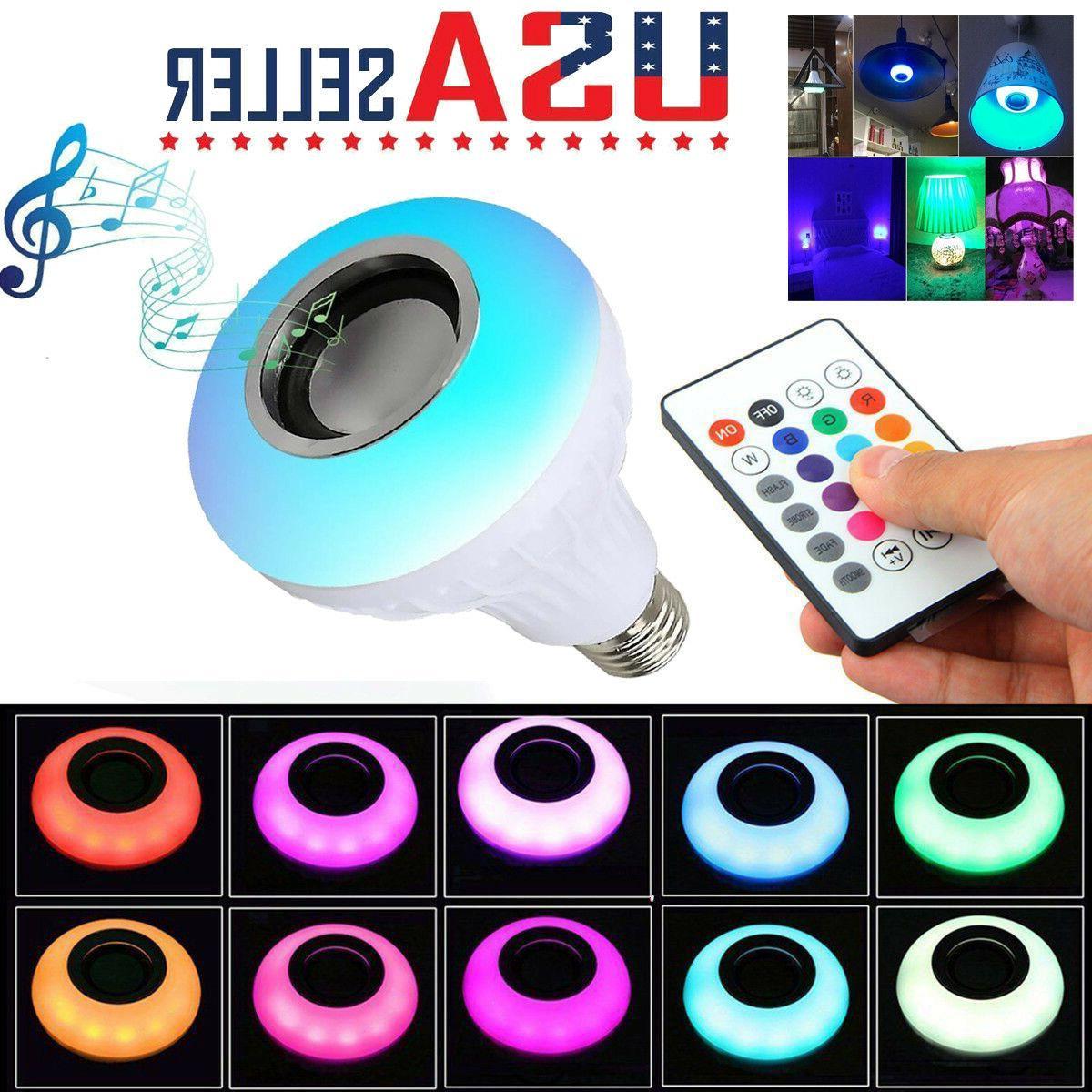 Bluetooth Speaker Wireless Music Player with Remote 12W RGB