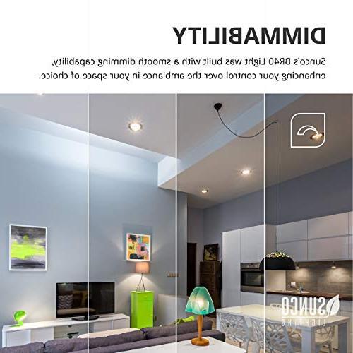 Sunco Lighting BR40 LED Dimmable, 5000K base, Flood Light Home or Office - UL Star