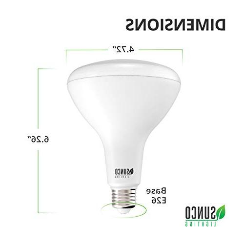 Sunco BR40 LED Bulb, Dimmable, 5000K Daylight, base, Home or Office - & Energy Star
