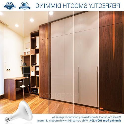 Hyperikon LED Bulb Dimmable, 15W , 1320lm, 3000K Wide Base UL ENERGY for Kitchen, Hallways