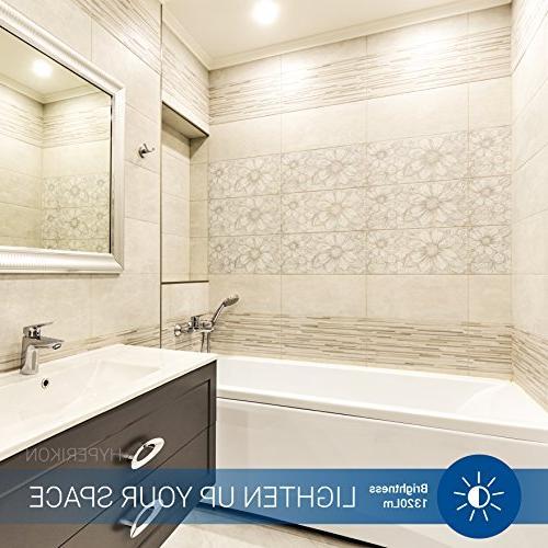 Hyperikon Bulb Dimmable, 15W , 3000K Wide Flood Medium Base ENERGY - for Basement, Kitchen, Hallways