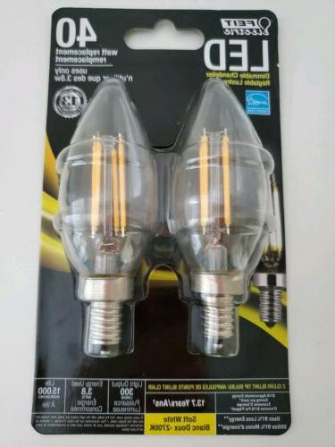FEIT ELECTRIC CTF40/10KLED/3 Non-Dimmable Led Bulb, 40 W, 12