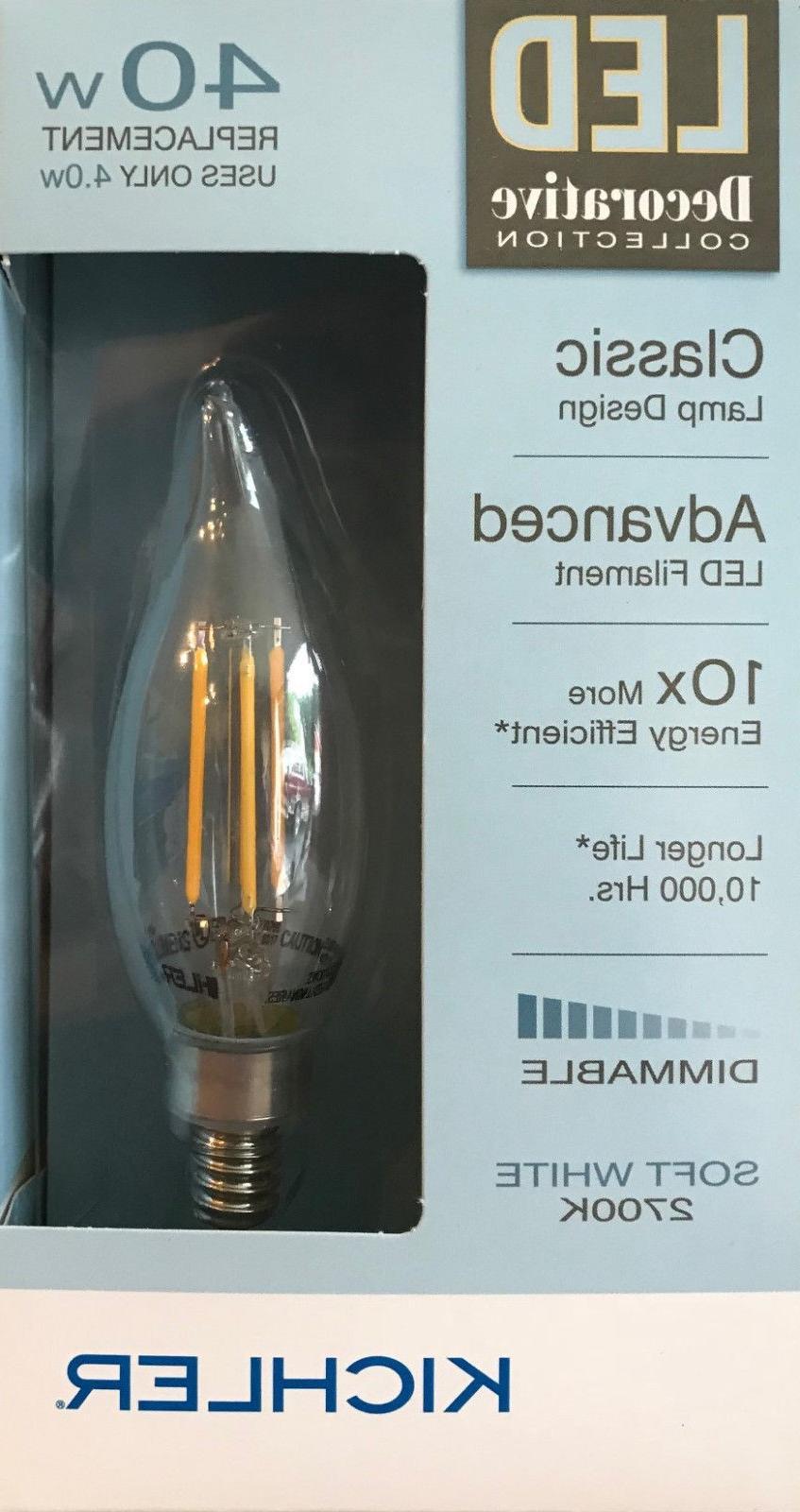 Kichler Decorative Collection 40-Watt Clear CA10C LED Bulb w