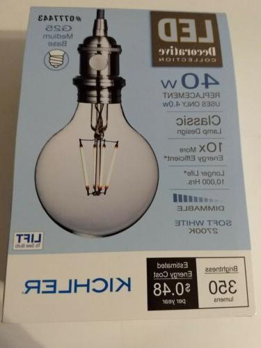 Kichler Decorative Collection 40-Watt Clear G25 LED Bulb w/S