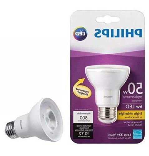 Philips Dimmable Indoor LED PAR20 Flood 6w 50w Replacement B