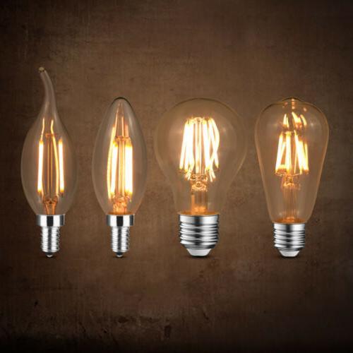 Dimmable LED E12 E26 110-130V 4/6/8W C35 ST64 Retro Vintage