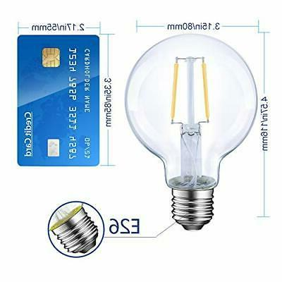 Dimmable Edison Light Bulb, 6 Equivalent