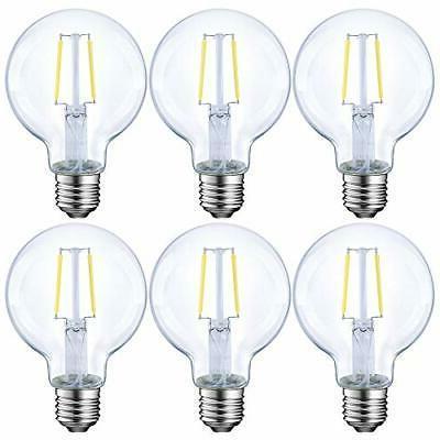 dimmable led edison light bulb g25 globe