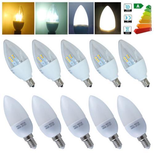 US E12 Candelabra/ E14 SES LED Chandelier Candle Light Bulb