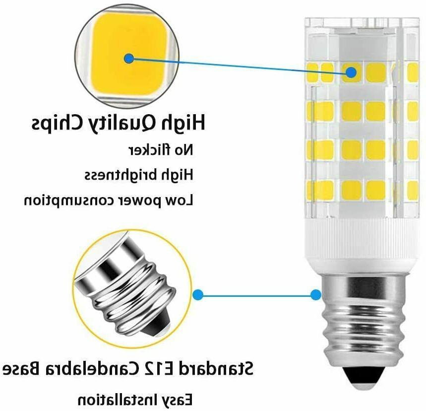 E12 Light bulb 5W AC120V Fan, Chandelier,