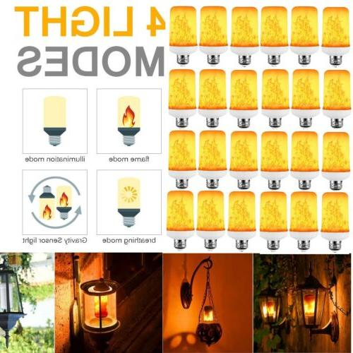 e27 26 led flicker flame light bulb